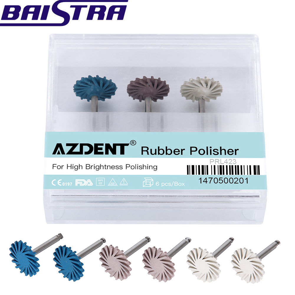 6pcs/pack Azdent Dental Composite Polishing Diamond system RA Disc 14mm Wheel