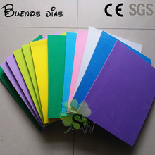 Environmentally friendly 10mm different color 25*33cm Eva foam sheets,Easy to cut,Handmade material,Craft School projects