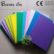 Feuilles en mousse Eva écologiques 10mm, différentes couleurs, 25x33cm, matériel facile à découper, projets scolaires artisanaux
