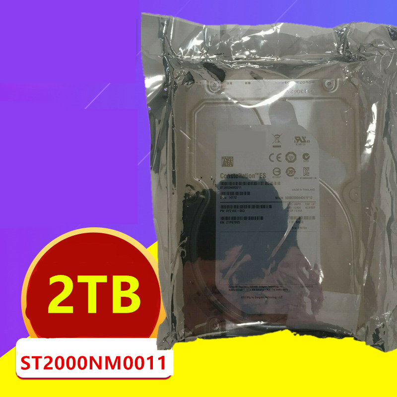 """New HDD For Seagate 2TB 3.5"""" SATA 6 Gb/s 64MB 7200RPM For Internal HDD For Enterprise Class HDD For ST2000NM0011 3"""