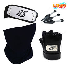Naruto hatake kakashi cosplay bandana luvas máscara anime acessórios femininos halloween naruto adereços