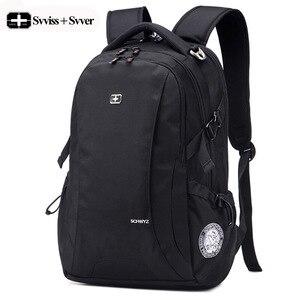 Мужской рюкзак, мужской водонепроницаемый рюкзак для ноутбука, модные спортивные дорожные сумки, Студенческая школьная сумка, мужской черн...