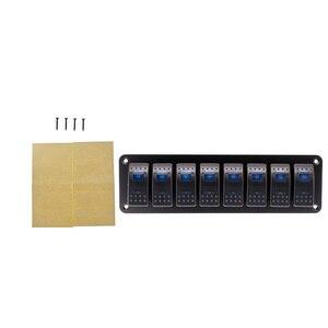 Image 4 - Wasserdichte 8 Gang Switch Panel Für Marine Boot Caravan RV Universal Kippschalter AUF OFF Rocker Panel Mit Rot blau Licht 12/24V