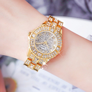 Image 5 - Роскошные женские часы, модные женские Стразы, часы с австрийским кристаллом, керамические часы, женские кварцевые наручные часы, женские часы под платье