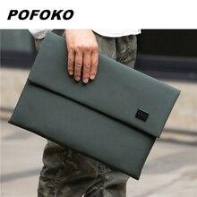 Pofoko Brand Laptop Bag 12,13,14,15 Inch,Business Man Lady Waterproof Sleeve Case For Macbook Air Pro 13.3,15.4,Dropship E200
