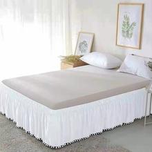 Falbanka na ramę łóżka biały owinąć wokół elastyczne łóżko koszule bez powierzchni łóżka falbanka na ramę łóżka s Twin Full Queen król 40cm wysokość Home korzystanie hotelu # tanie tanio Di angelo Gładkie barwione Domu about 0 3-0 6kg(0 6-1 3Ib) 400tc Stałe 100 poliester