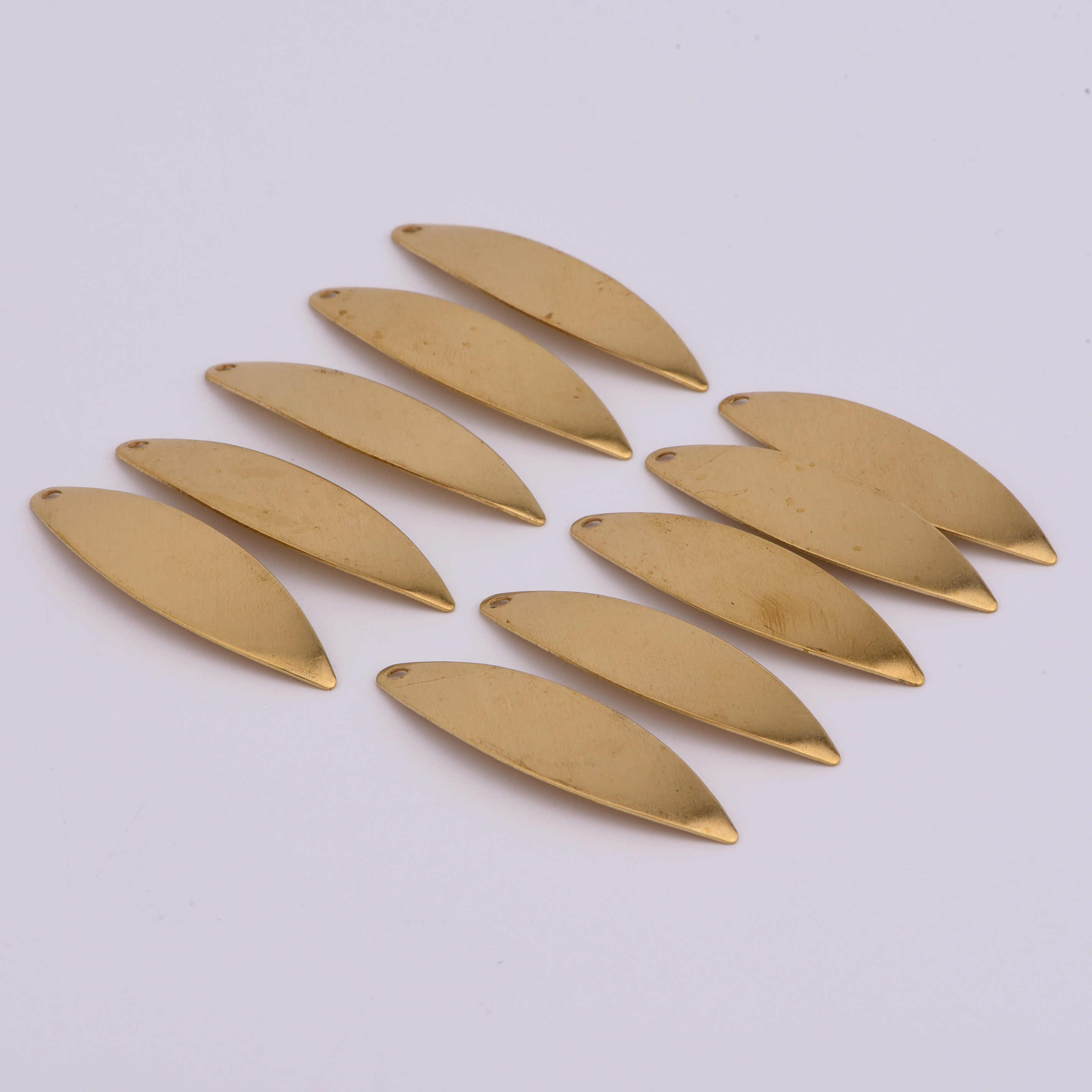 40*12mm 10pcs copper Charms Oval curved surfboard shape Pendants for DIY decoration bracelets necklace earring Jewelry Making