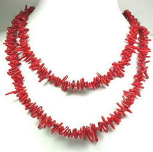 915 +++Rare Natural Red Coral Branch Necklace 30 Inch(China)