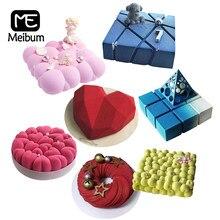 Meibum – moule antiadhésif en Silicone de qualité alimentaire, outils de décoration de gâteaux, Mousse, cuisson, plusieurs Types, pâtisserie de fête, ustensiles de cuisine