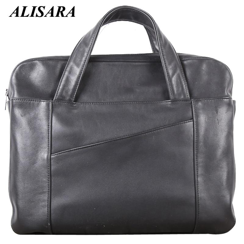 Briefcase Bag Male Genuine Leather Handmade Top-end Men Business Laptop Tote 100% Real Cowhide Shoulder Messenger Bag Handbags