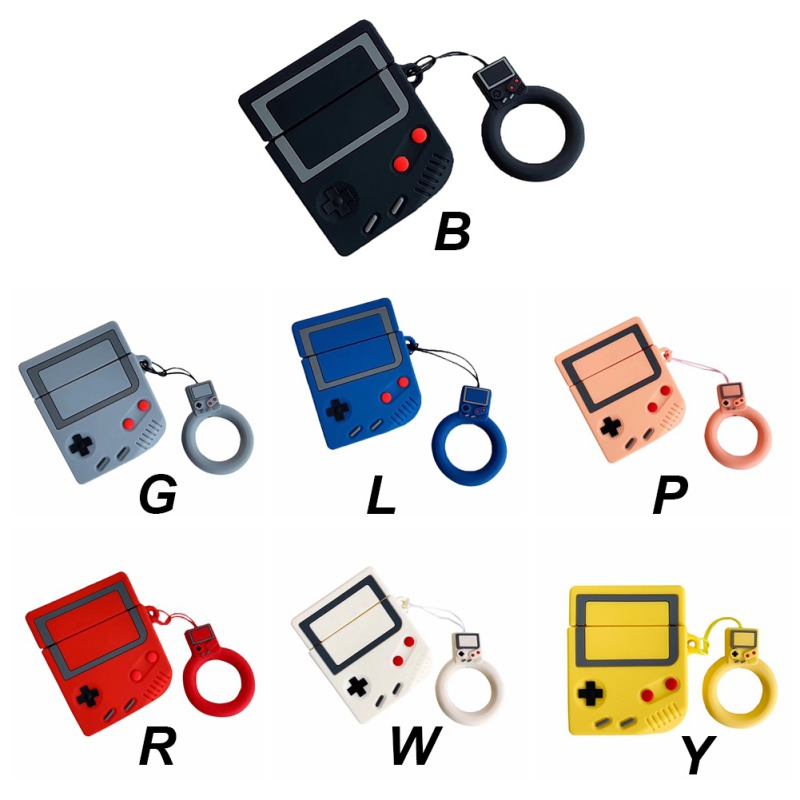 Gameboy Protector For <font><b>AirPods</b></font> <font><b>1</b></font> 2 Silicone Bluetooth Earphone <font><b>Case</b></font> Bag For Apple image