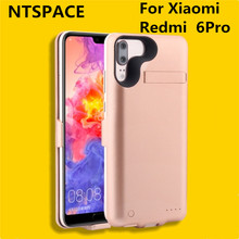 NTSPACE 6000mAh Charging Case for Redmi 6 External Battery Power Case Battery Charger Cases For Xiaomi Redmi 6 Pro Backup Power