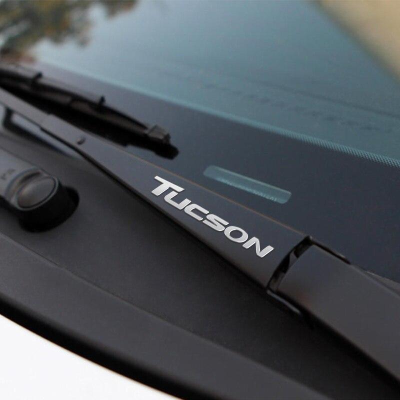 Car Window Wiper Stickers Metal Emblem For Hyundai Tucson Accessories Car-Styling