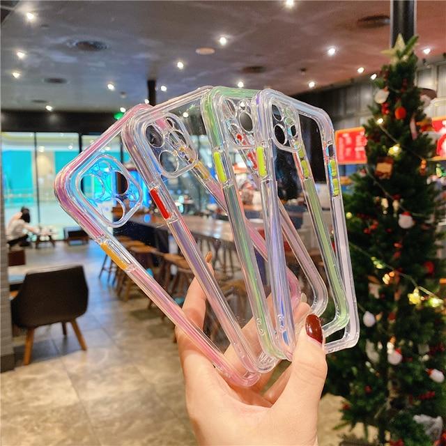 Luxury Laser Frame Phone Case For iPhone 11 Pro 12 Pro Max XS Max 7 8 Plus 12 Mini X XR SE 2020 Transparent Hard Shockproof Capa 5