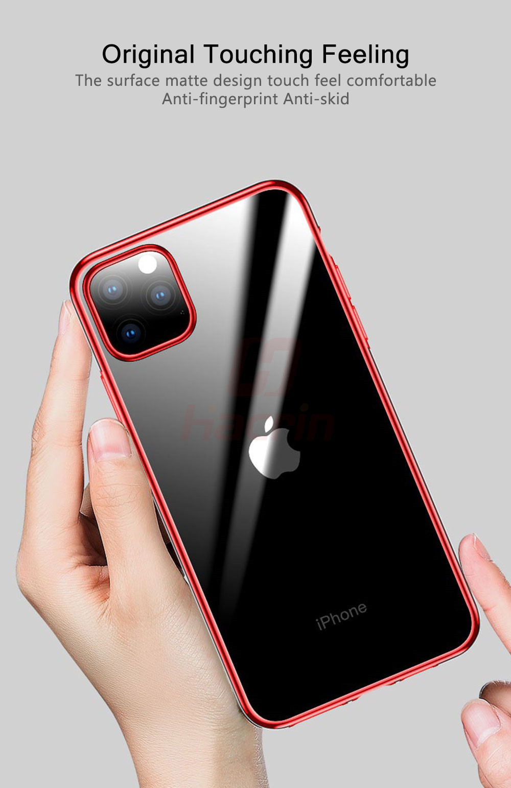 Hacrin Transparent TPU Silicone Case for iPhone 11/11 Pro/11 Pro Max 5