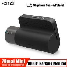 70mai Мини Смарт видеорегистратор Wifi Автомобильный видеорегистратор Камера 1600P HD ночное видение g-сенсор приложение 140 широкий обзор авто видео рекордер