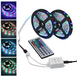 Светодиодная лента, светильник RGB 5050 SMD 2835, гибкая лента fita, светодиодный светильник, лента RGB 20 м, Диод DC12V, 60 светодиодов + 44 управления