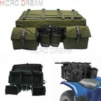 Army Green ATV Cargo Bag Snowmobile Mountain Motorcycle Rear Seat Shelf Bag Casual Large Capacity Wrap Around Luggage Back Bags