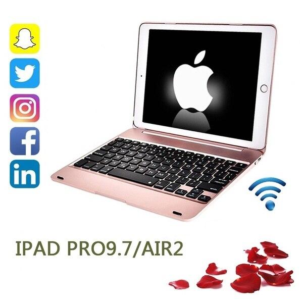 2019Ultra-thin Ipad Pro 9,7 Tablet Computer Bluetooth Tastatur Air2 Drahtlose Bluetooth Flip-Über Tastatur, Eingebaute Bluetooth