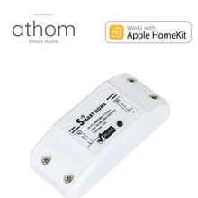 Athom pré flash homekit wi fi interruptor de relé inteligente funciona com assistente em casa esp8266