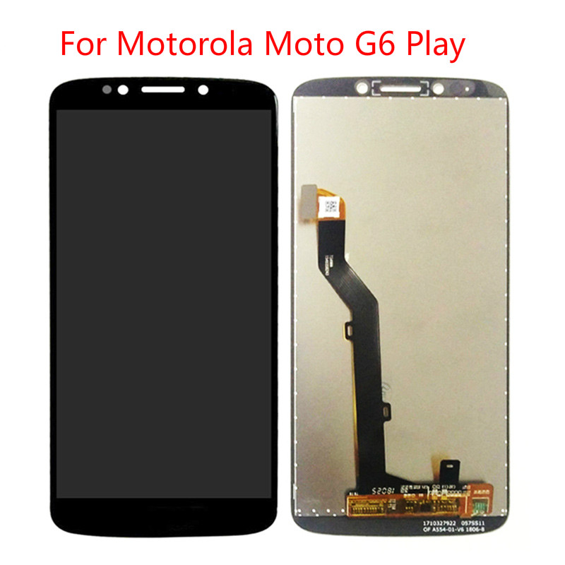 5pcs For Motorola Moto G6 Play xt1922 LCD Display Touch Screen Glass Digitizer Complete Assembly Replacement
