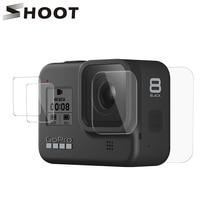 Atirar para gopro hero 8 preto vidro temperado protetor de tela lente proteção película protetora para gopro8 go pro 8 acessórios