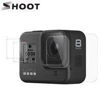 تبادل لاطلاق النار ل GoPro بطل 8 الأسود الزجاج المقسى واقي للشاشة عدسة حماية طبقة رقيقة واقية ل Gopro8 الذهاب برو 8 اكسسوارات