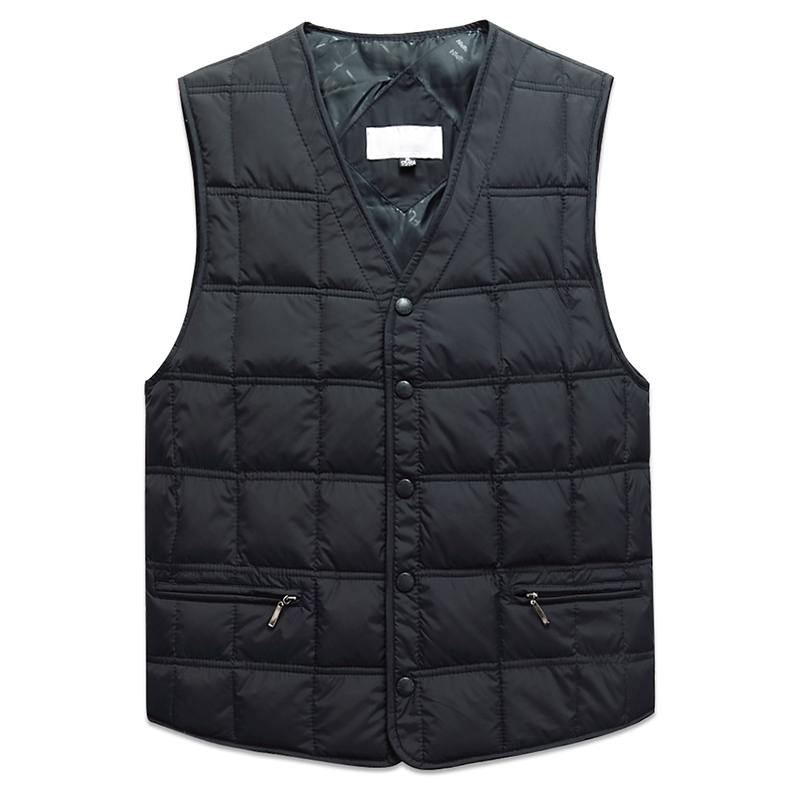 Duck Down Sleeveless Jacket For Men Winter Windbreaker Parka Warm Thick Vest Male Casual Outerwear Snow Waistcoat With Pockets