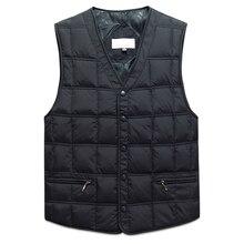 Duck Down Sleeveless Jacket For Men Winter Windbreaker Parka