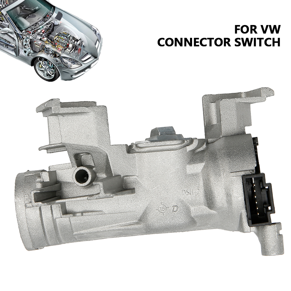 IGNITION SWITCH <font><b>LOCK</b></font> BARREL HOUSING for VW CADDY GOLF <font><b>SHARAN</b></font> TIGUAN TOURAN image