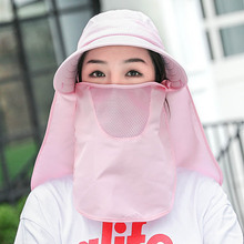 Face-covering sunscreen with mask Sun Hat Women Cycling Electric Vehicle Outdoor UV Face-protecting Masked Sun Hat mask fashion
