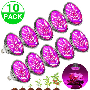 Image 1 - (10pcs/Lot) E27 100W Full Spectrum LED Grow Light For Indoor Garden Greenhouse Plant Growing & Flowering SMD Grow Lamp