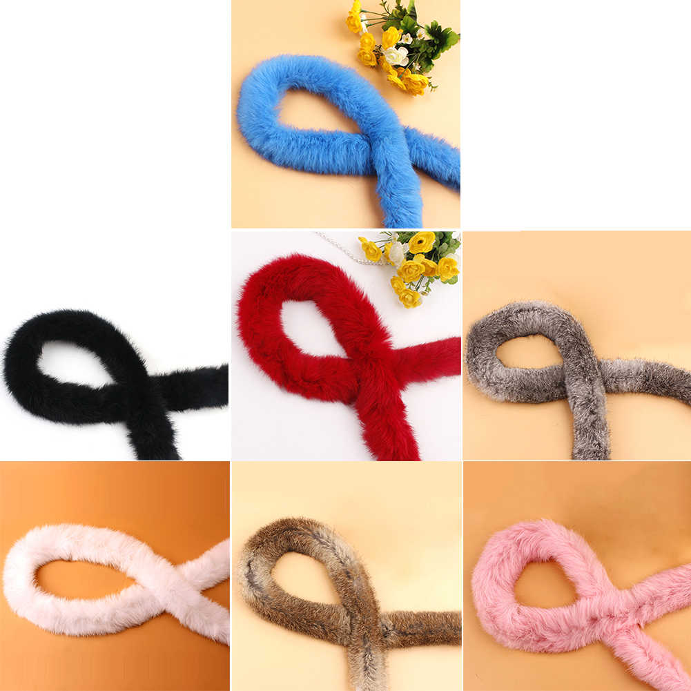 Ribbon Furry Tapes Accessories Trimming Costume Sewing Fluffy Artificial Rabbit Fur Down Jacket DIY