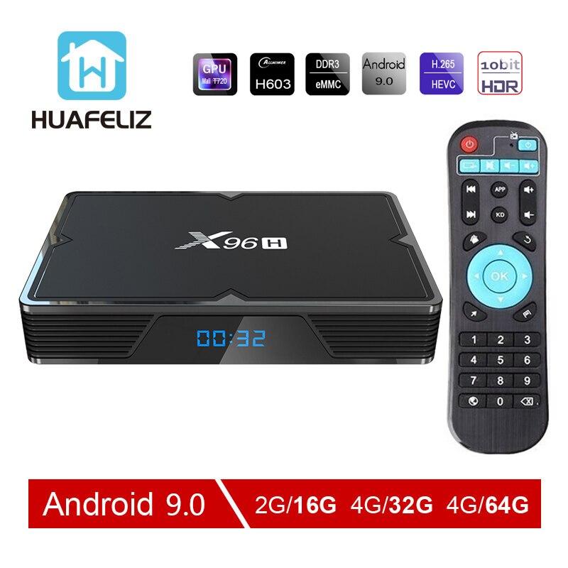 X96H Smart Tv Box Android 9.0 Bluetooth 4.1 2.4G 5G WiFi HDMI Allwinner H603 6K 4K Media Player For Netflix Youtube PK X96max