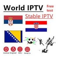 Mondo IPTV Bosnia Croazia Serbia IPTV 7000 + live Spedizione VOD Supporto Android m3u enigma2 2000 + Vod