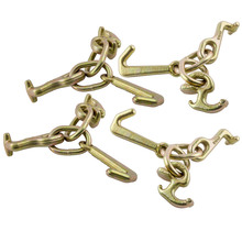 (4 Pack) RTJ Cluster Hook Heavy Duty Wrecker Hauler Tow Towing Truck Chain