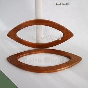 Image 4 - 2 10 20 adet 4 renk 20X9.5cm dudak şekli ahşap saplı örgü çanta, meşe ağacı ahşap sadece dantel çanta kalem kolları