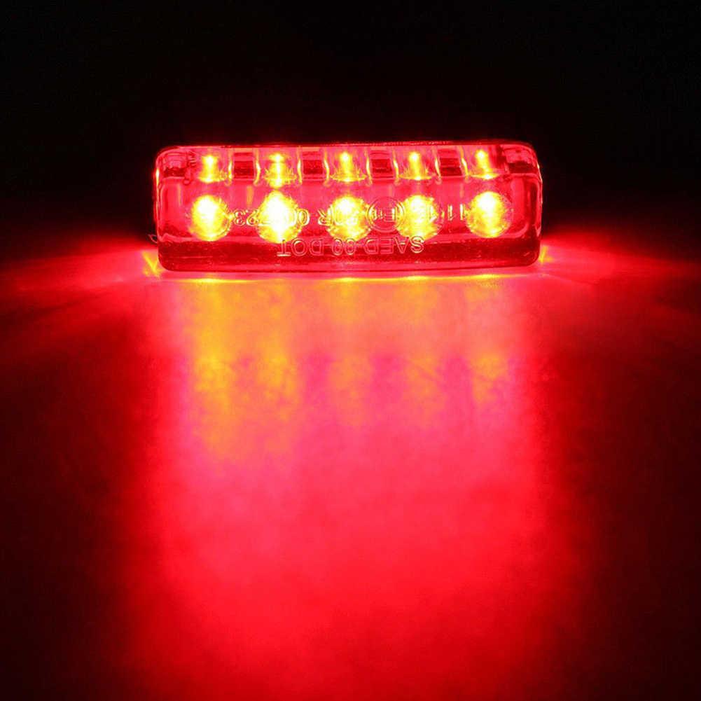 12V motocykl tylne światło skuter ATV Bike Mini 5 LED czerwony tylny ogon świateł hamowania Stop lampa światła stopu piec światła do