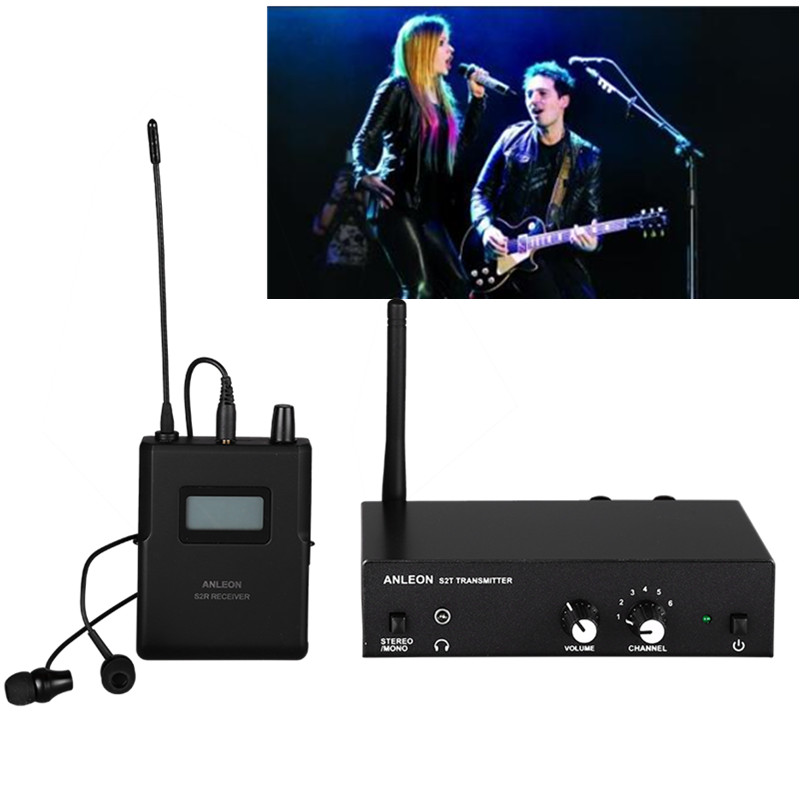 Original ANLEON S2 UHF Stereo Wireless <font><b>Monitor</b></font> <font><b>System</b></font> 4 Frequenzen Professionelle Digitale Bühne <font><b>In</b></font>-<font><b>Ear</b></font>-<font><b>Monitor</b></font>-<font><b>System</b></font> Kits image