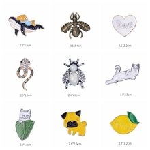 WEIMANJINGDIAN Brand Various Designs Enamel Pins Badges for Bags / Shoes /Hats Brooches Broches