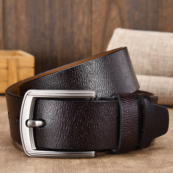 [LFMB]cow genuine leather luxury strap male belts for men new fashion classice vintage pin buckle leather belt male belt men 1