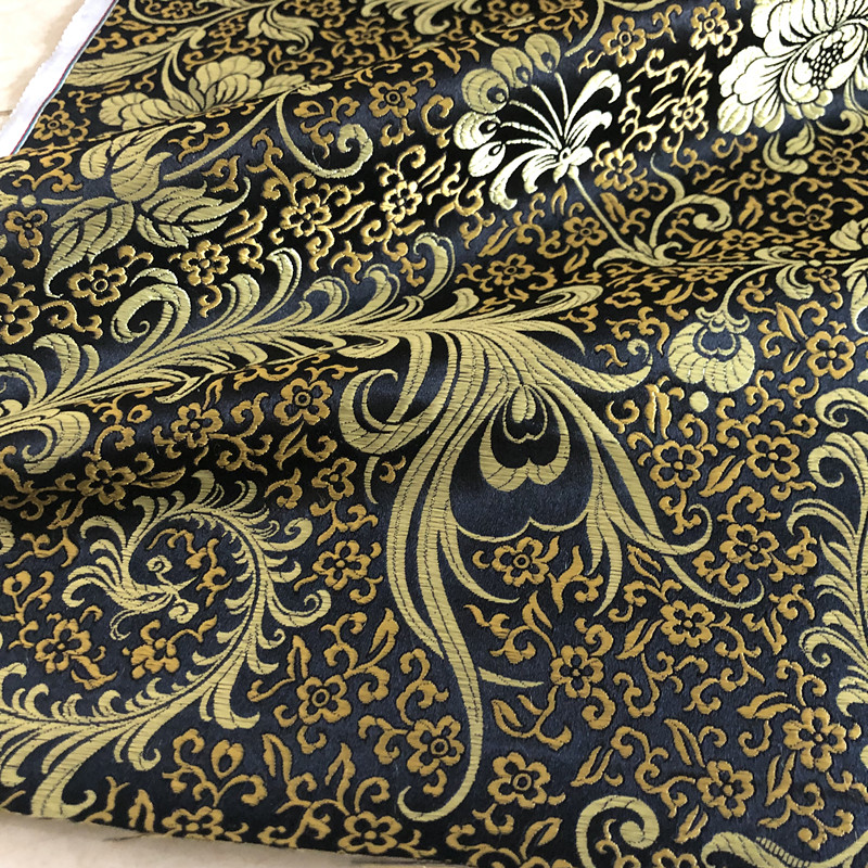 Traditional Textile Suit Pants Chinese Style Cheongsam Classical Traditional Real Mulberry Silk Goods Brocade Jacquard Fabric