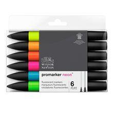 Winsor & Newton Promarkers stylos marqueurs à double pointe 6 couleurs et 12 couleurs stylo pinceau artiste mélangeur