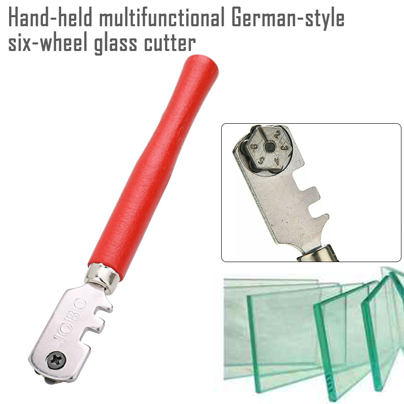 1pcs 130mm Multifunction German-Style Professional Portable Diamond Tipped Glass Tile Cutter Window Craft For Hand Tool