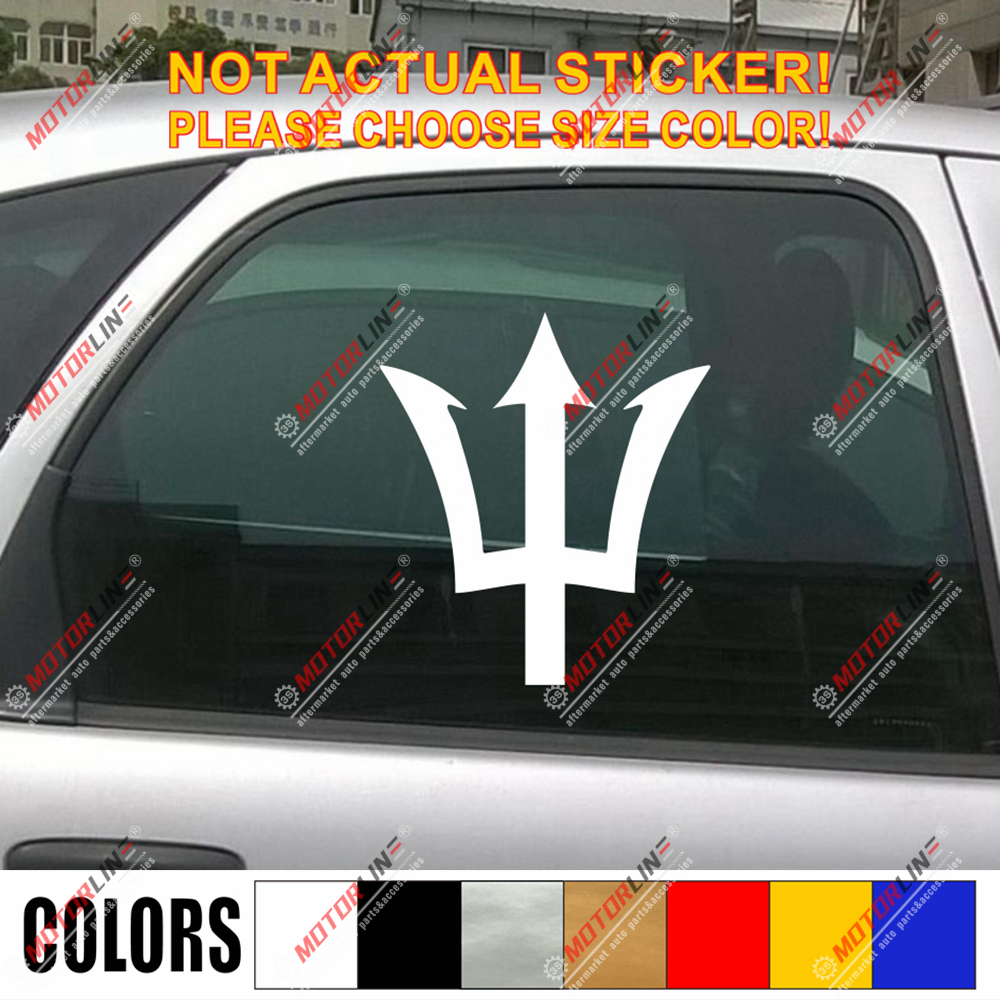 Trident Flag of Barbados Decal Sticker Car Vinyl pick size color
