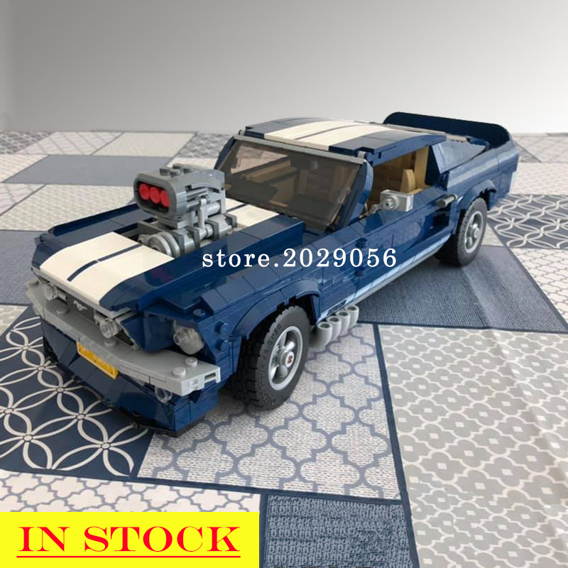 21047 Creator Expert Ford Mustang Classic Muscle Race Car 1967 GT500 10265 Building Blocks Bricks Toys Gift