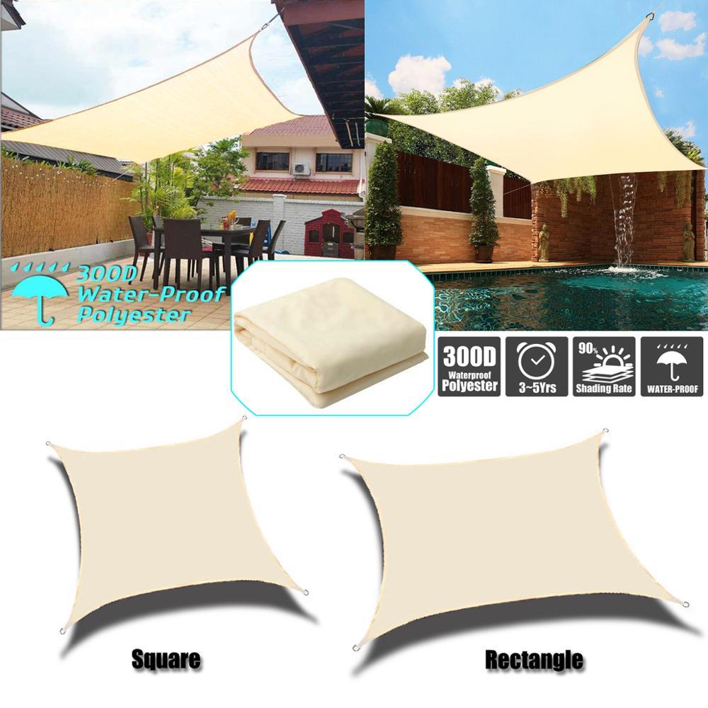 Outdoor markisen Wasserdicht Sun Shelter Quadrat Rechteck Sonnenschirm Schutz Outdoor Baldachin Garten Terrasse Pool Sonnensegel Camping