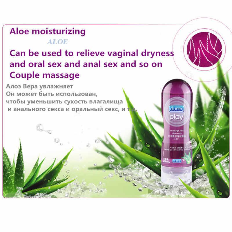 Durexหล่อลื่นนวด 2in1 Aloe Veraน้ำช่องคลอดAnal Smoothing Lube Intimate GEL Analหล่อลื่นเพศของเล่นสำหรับผู้ใหญ่