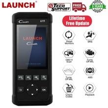 LAUNCH OBD 2 Car Scanner Automotive Tools Diagnostics Obd2 Scanner for Auto Tools Airbag Scan Engine Error Code Creader CR619