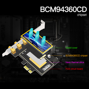 Image 4 - Fenvi T919 1750Mbps PCIe Desktop Wifi Card BCM94360CD For macOS Hackintosh 802.11ac Bluetooth 4.0 Dual Band Wireless Adapter